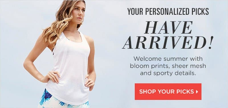 Magento eCommerce Website Personalization - Fabletics Example