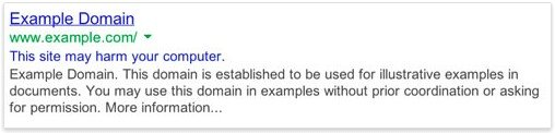 google-harm-warning